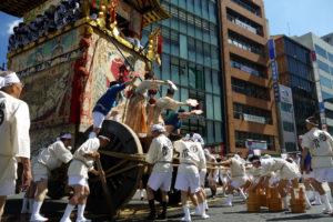 祇園祭りの風景